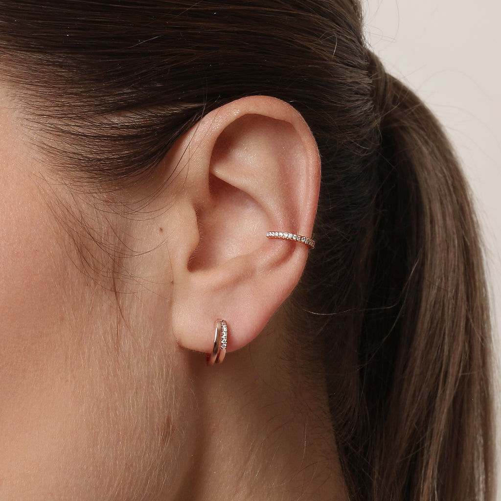 Rebel Earrings Rose Gold