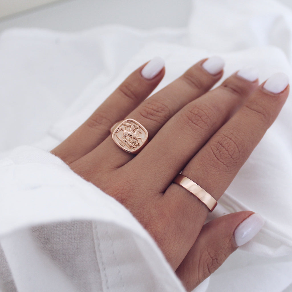 Agia George Ring Rose Gold