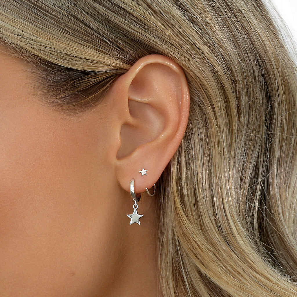 Ace Earrings Silver