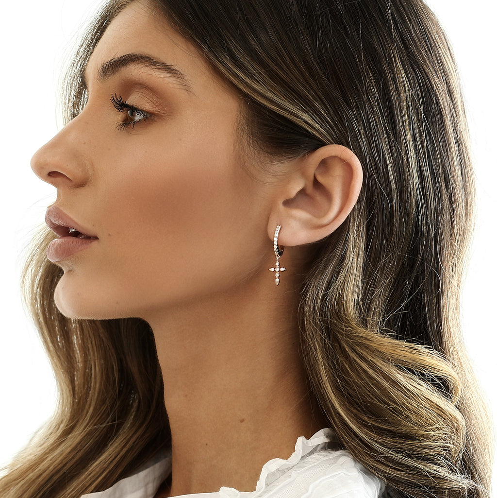Alexia Earrings Rose Gold