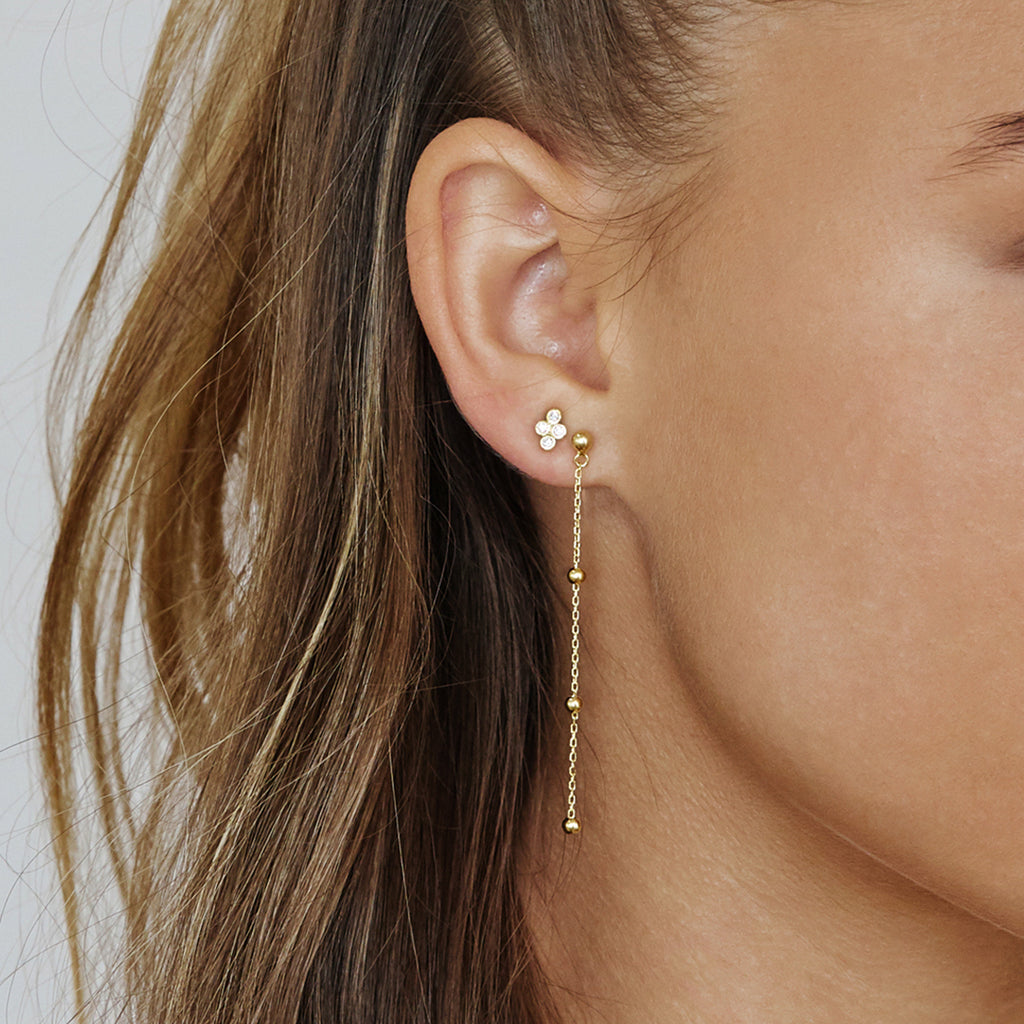 Carrie Drop Earrings Gold