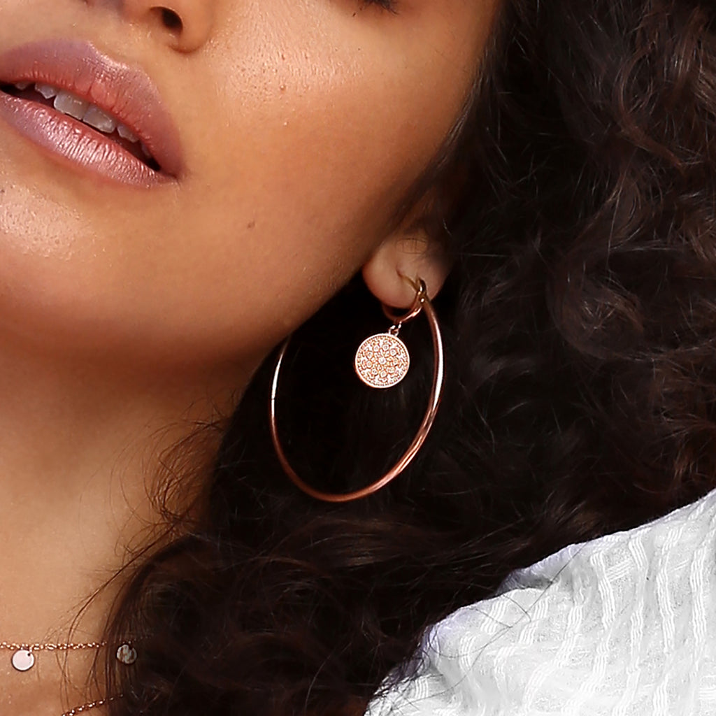 Pella Earrings Rose Gold
