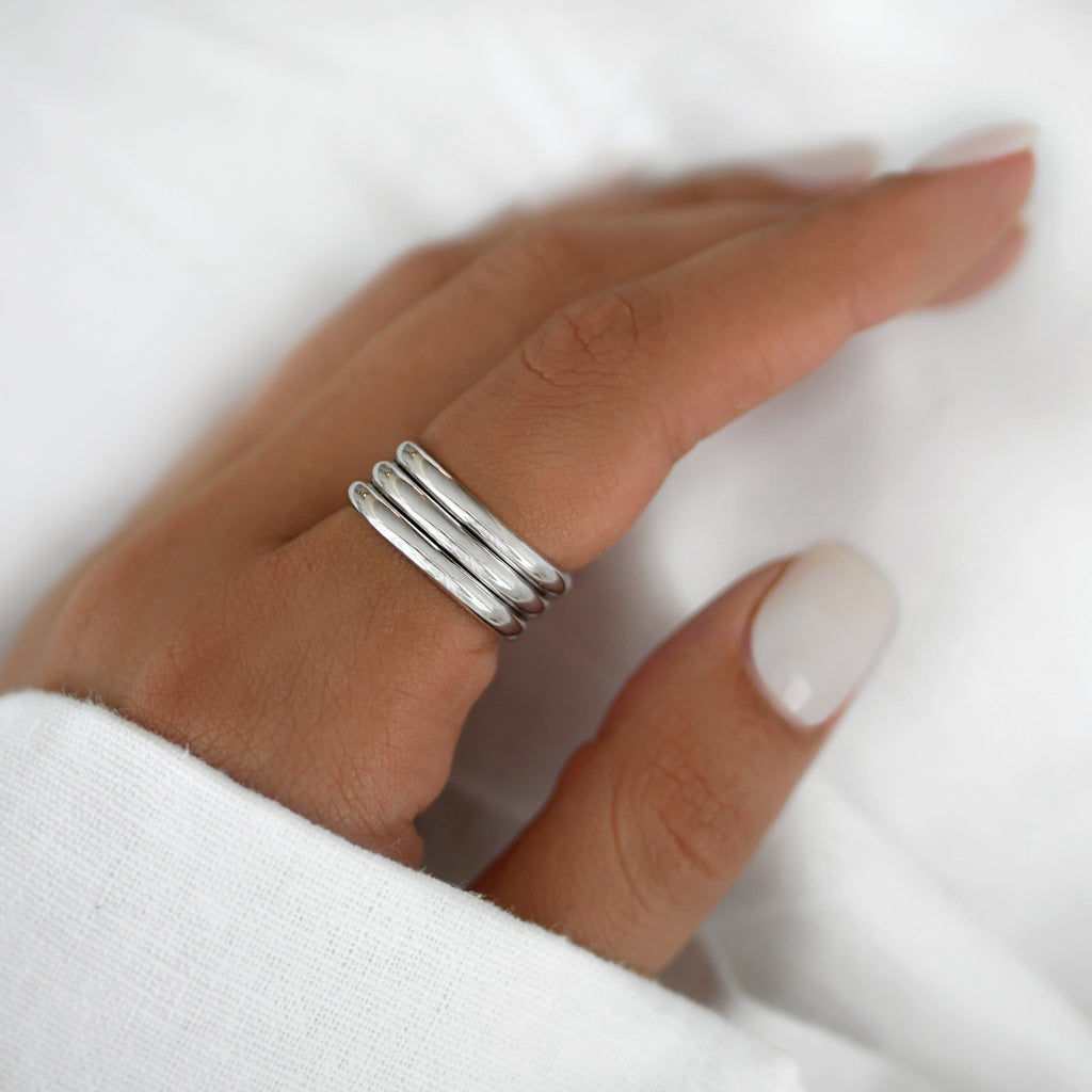 Eva Ring Set Silver