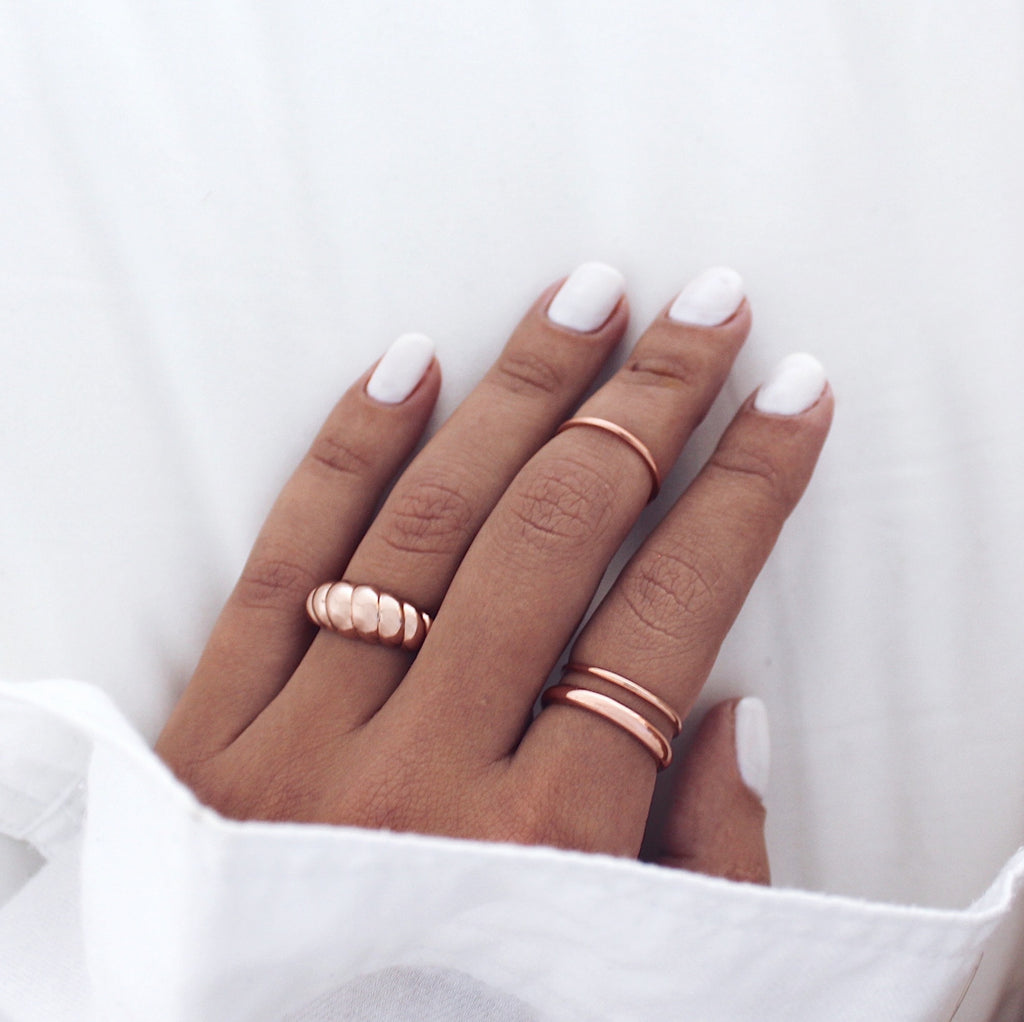Drew Ring Set Rose Gold