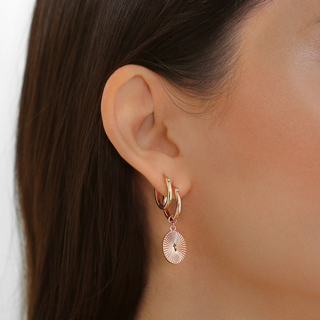 Sage Earrings Rose Gold