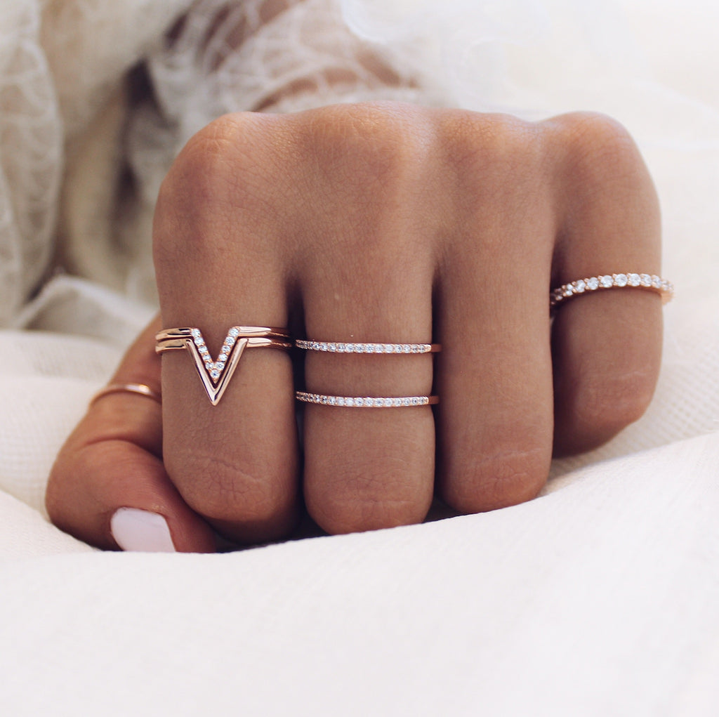 Tyler Ring Set Rose Gold