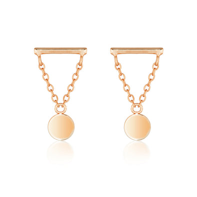 Storm Earrings Rose Gold