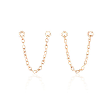 Bel Earring Chain Rose Gold