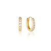 Jet Earrings Gold