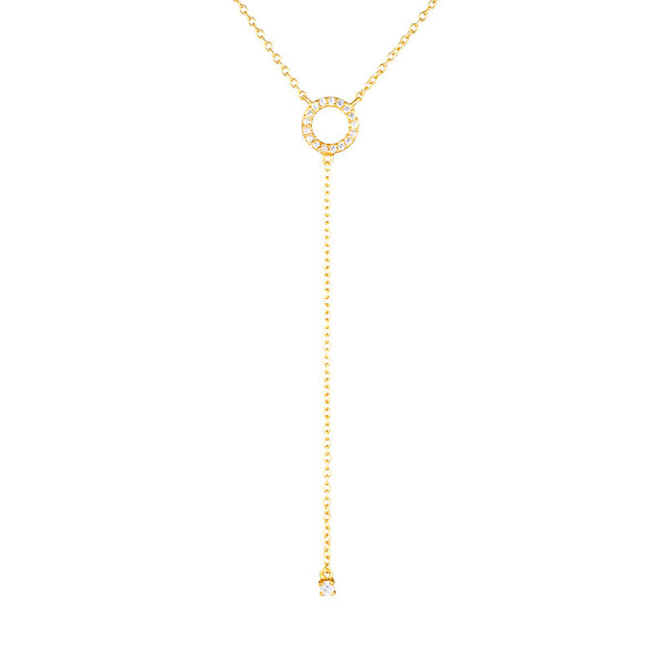 Harper Drop Necklace Gold