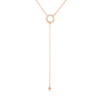 Harper Drop Necklace Rose Gold