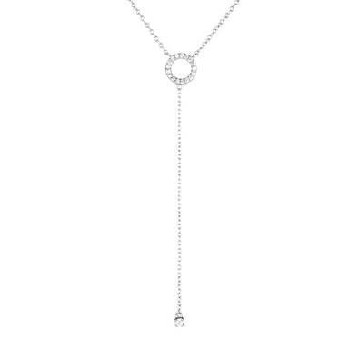 Harper Drop Necklace Silver
