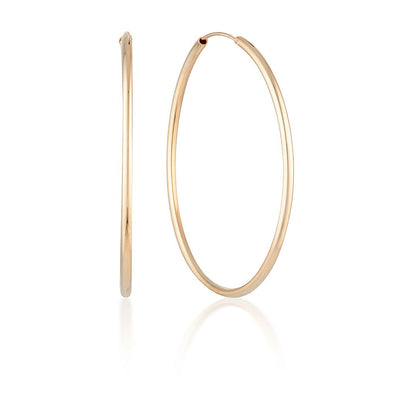Lulu Hoops Rose Gold