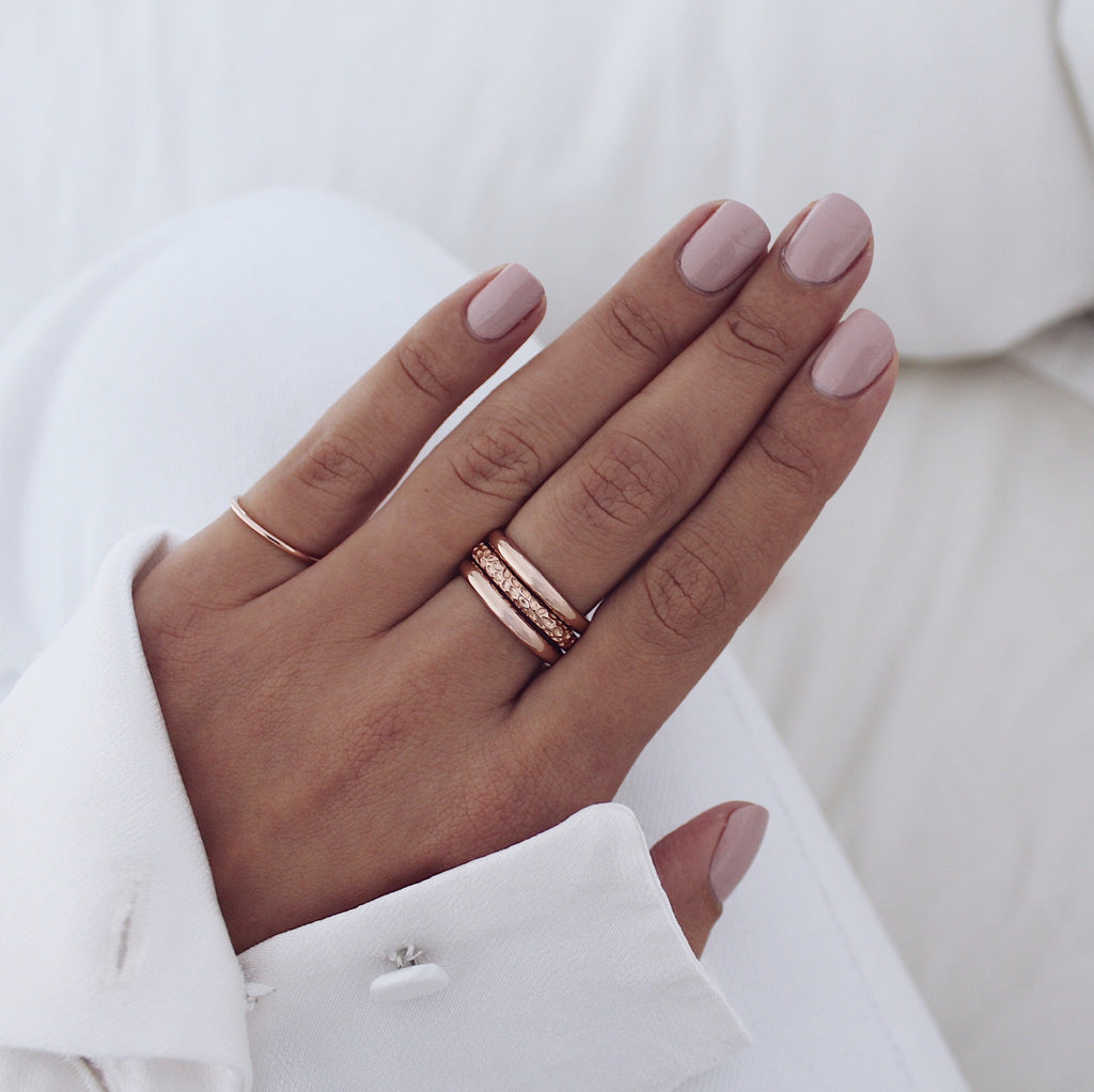 Nadia Ring Set Rose Gold
