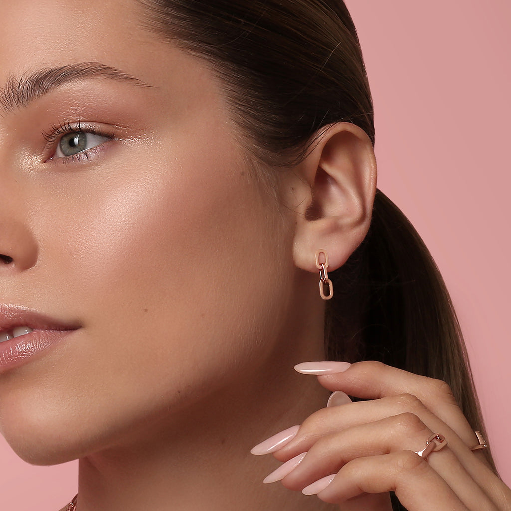 Hunter Earrings Rose Gold