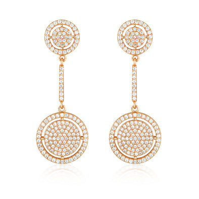 Olivia Drop Earrings Rose Gold