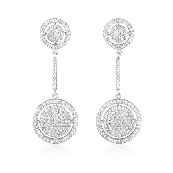 Olivia Drop Earrings Silver