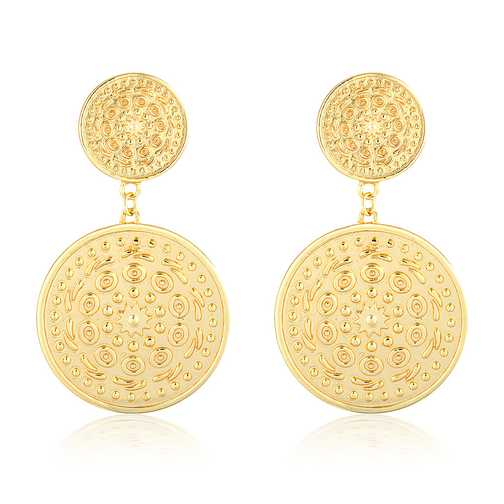 Nia Pella Earrings Gold
