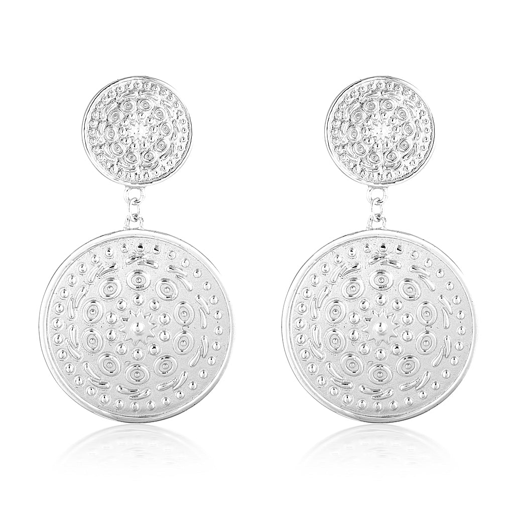 Nia Pella Earrings Silver