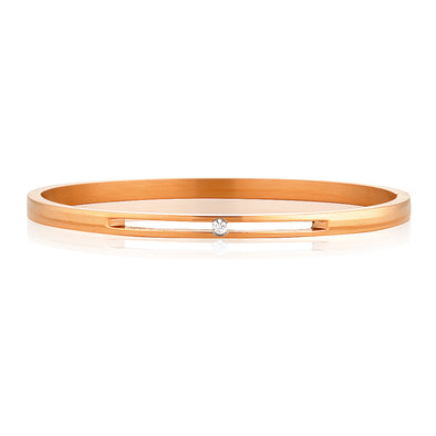 Fallon Bangle Rose Gold