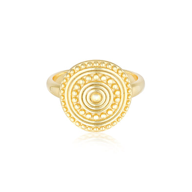 Florence Coin Ring Gold