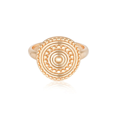 Florence Coin Ring Rose Gold