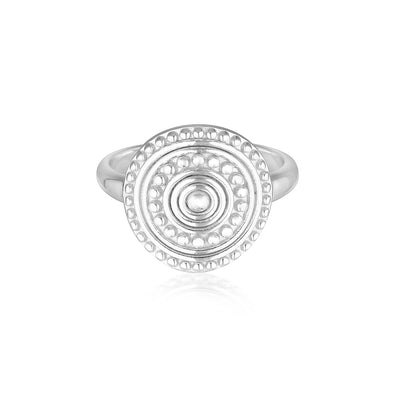 Florence Coin Ring Silver