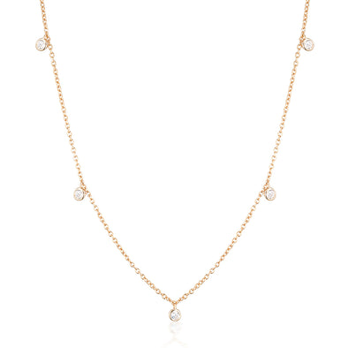 Niki Necklace Rose Gold