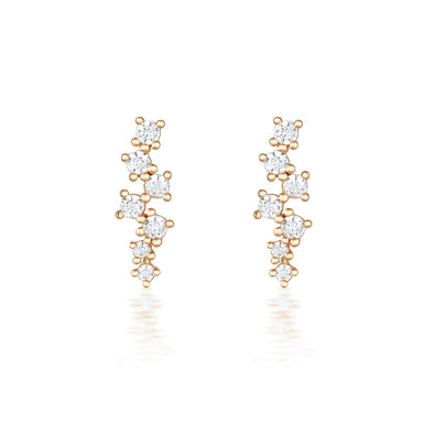 Darcie Earrings Rose Gold