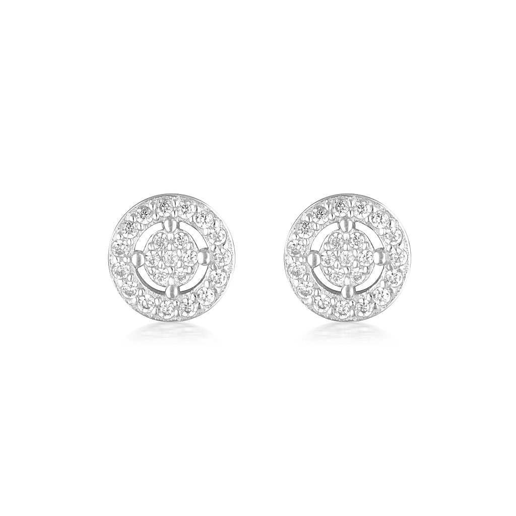 Olivia Earrings Mini Silver