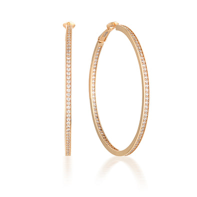 Ginger Hoops Rose Gold