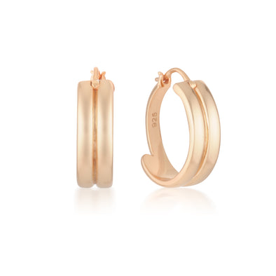 Perri Hoops Rose Gold