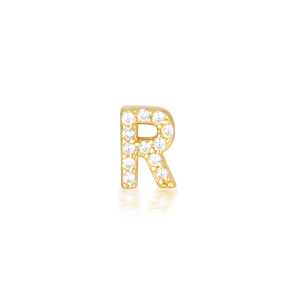 A-Z Earrings Gold