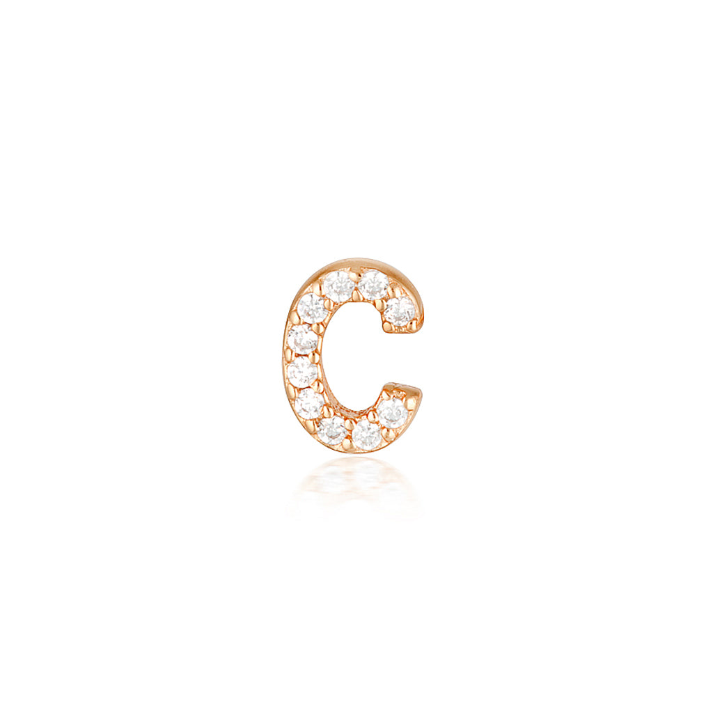 A-Z Earrings Rose Gold