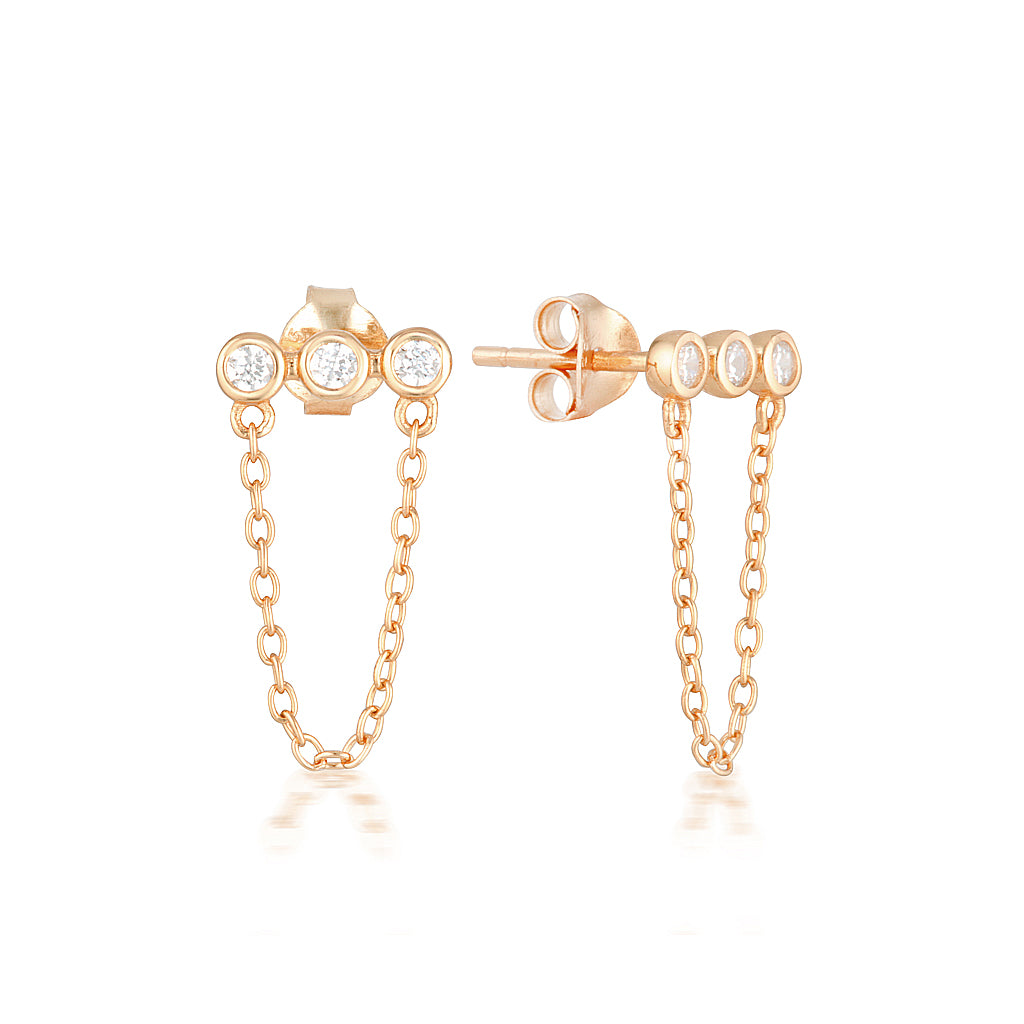 Auguste Earrings Rose Gold