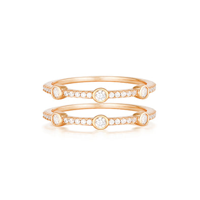 Jamie Ring Set Rose Gold