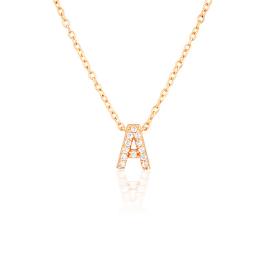 A-Z Necklaces Rose Gold