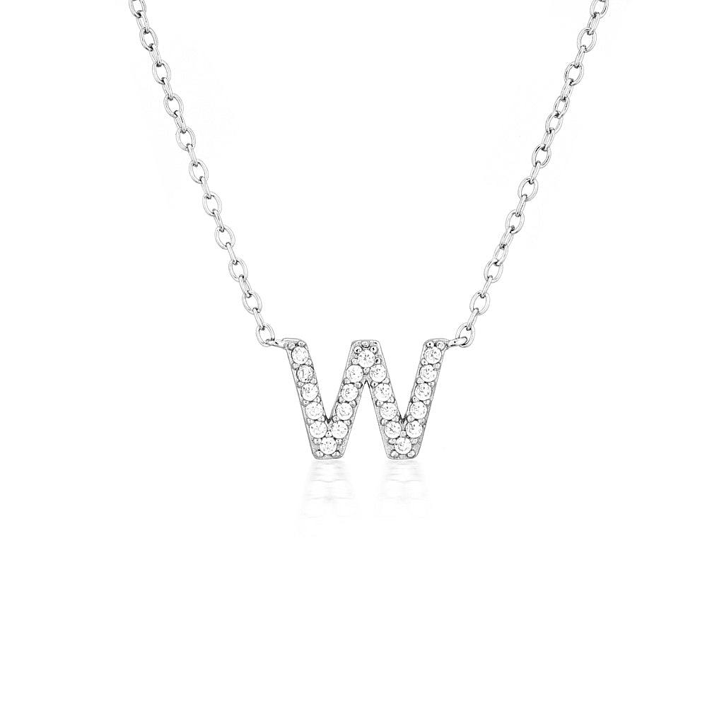 A-Z Necklaces Silver