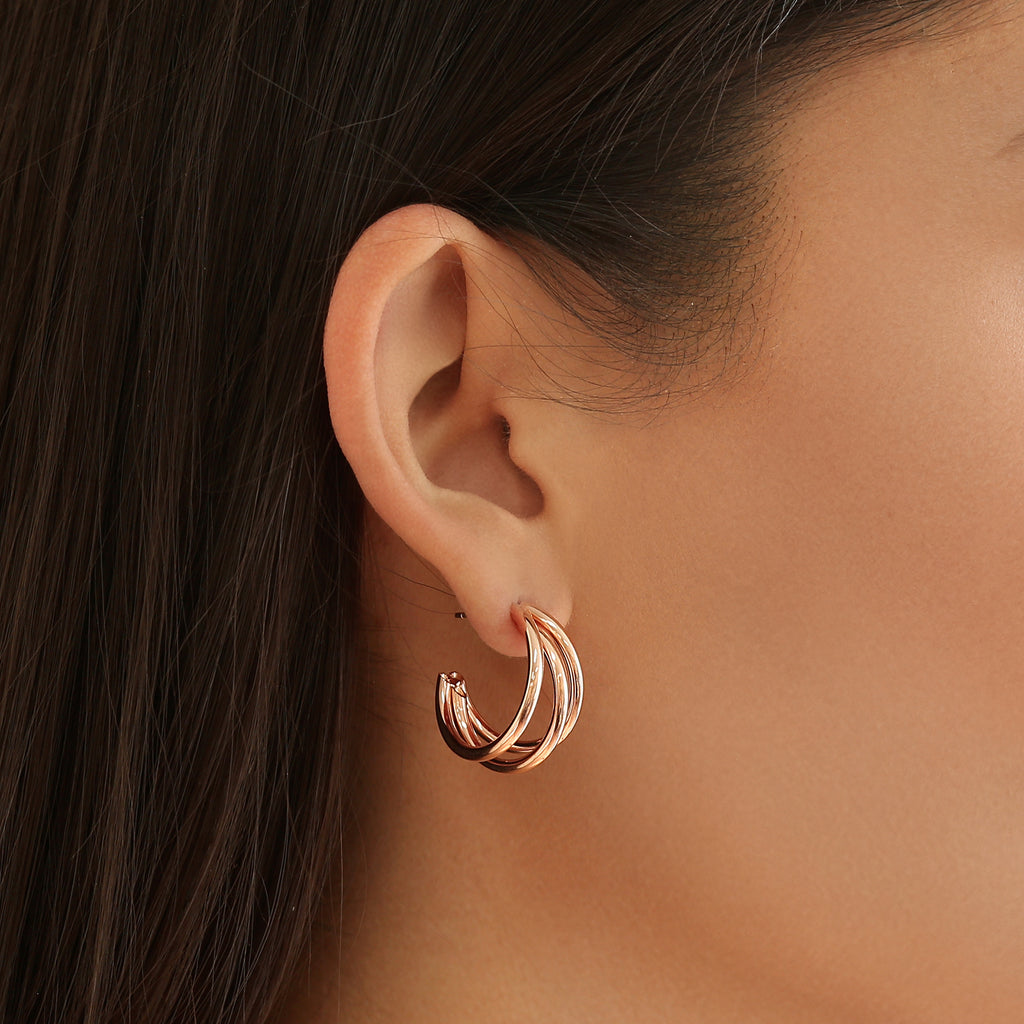 Toni Hoops Rose Gold
