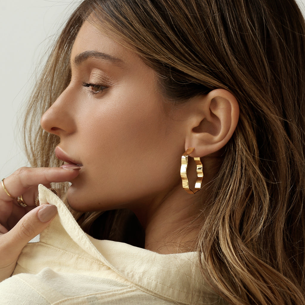 Zara Hoops Gold