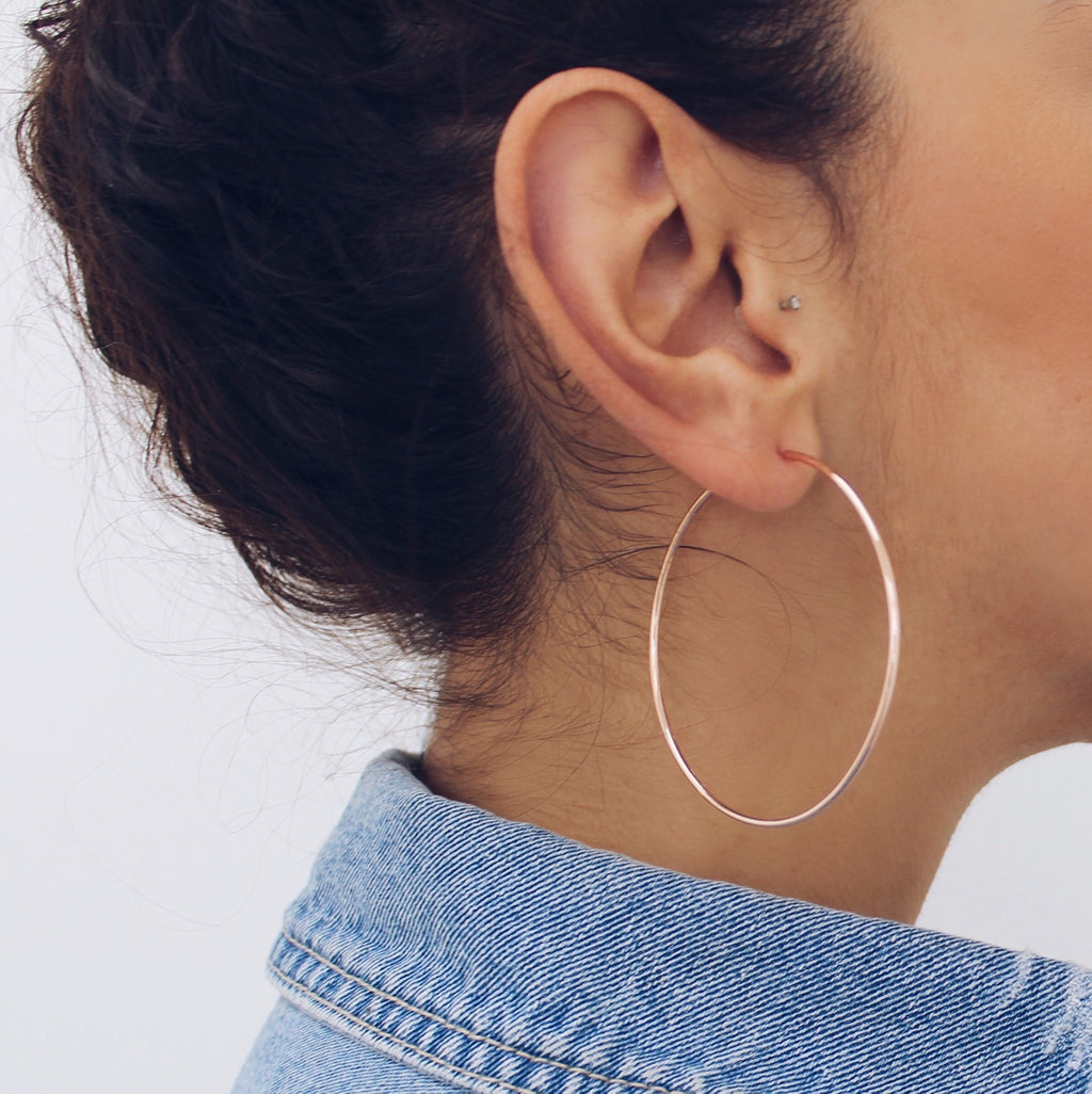 Gigi Hoops Rose Gold