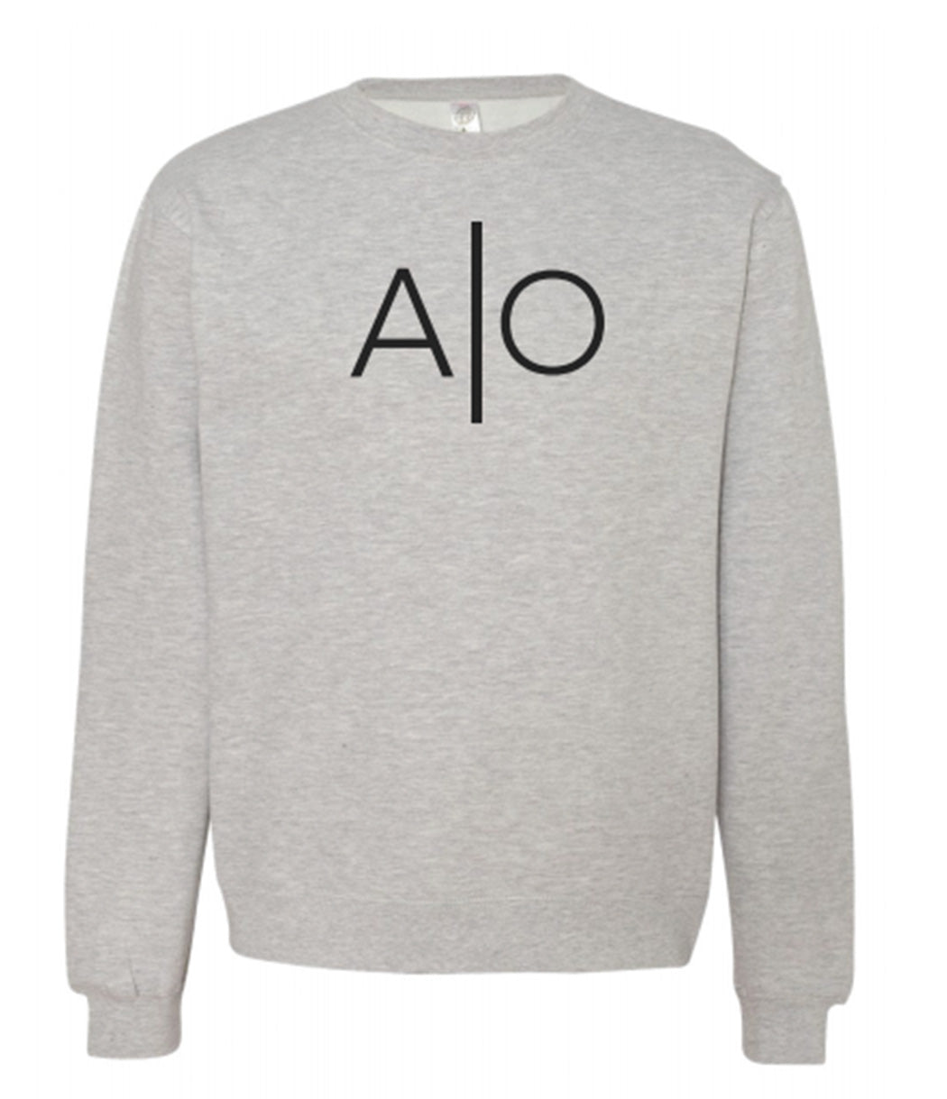 Alpha Omnia Grey Heather Crewneck