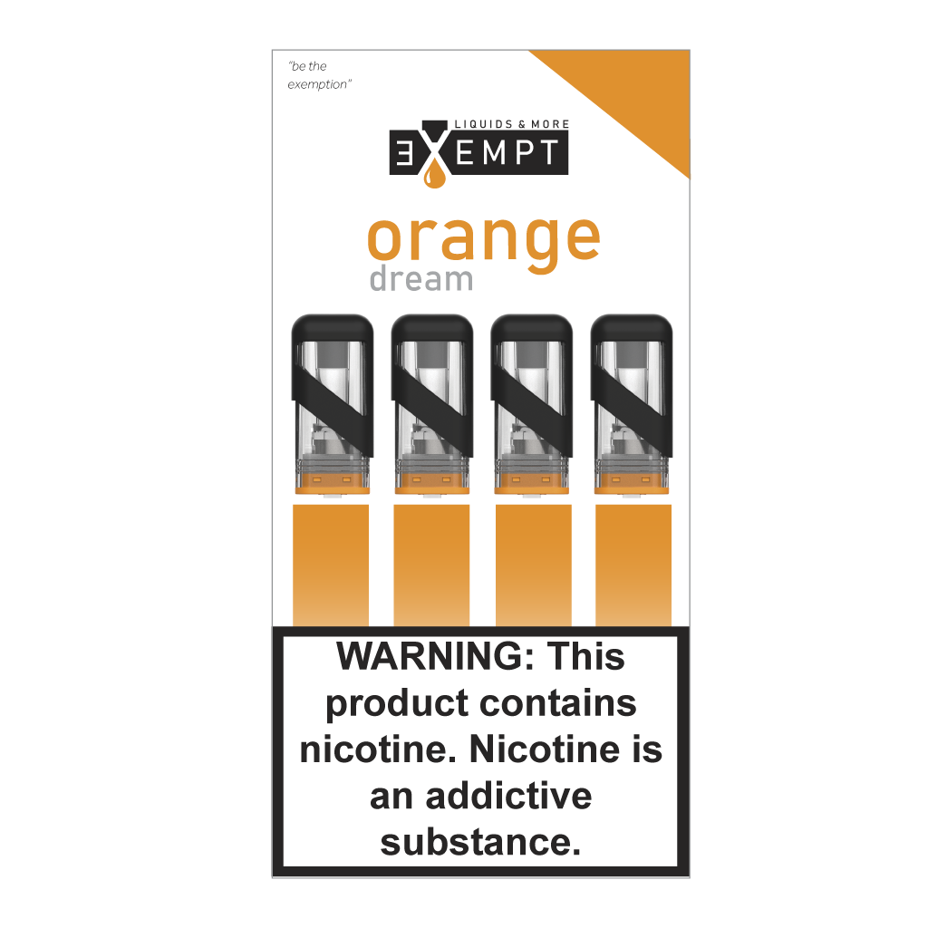 Exempt juice Orange Cream 1.2 ml 4 pack