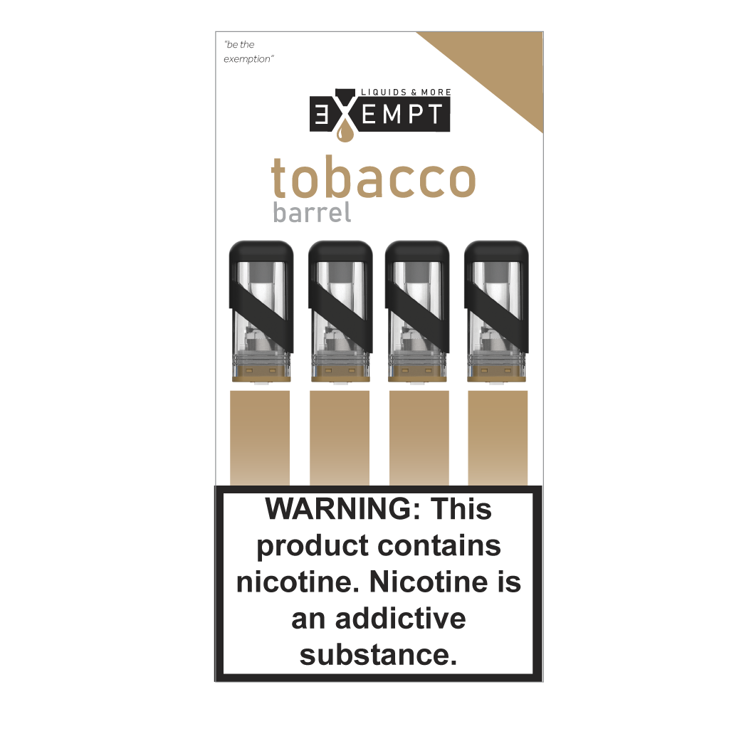 Tobacco Barrel Pod Packs (Pack of 4)
