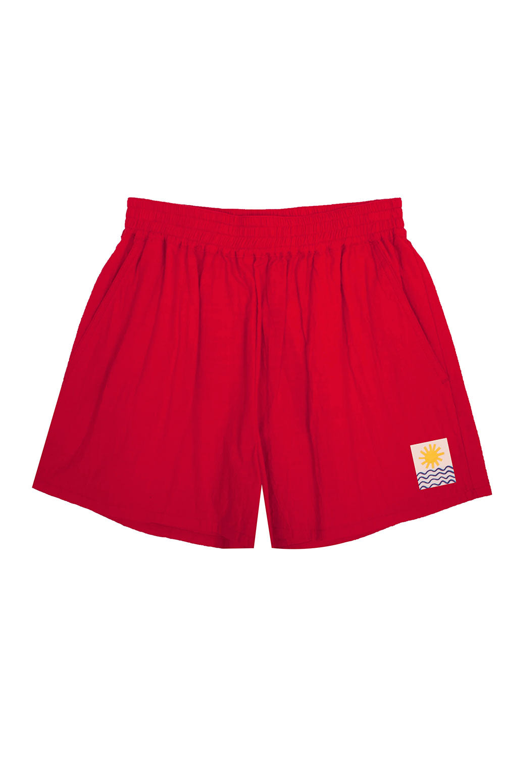 Basic Linen Shorts Red