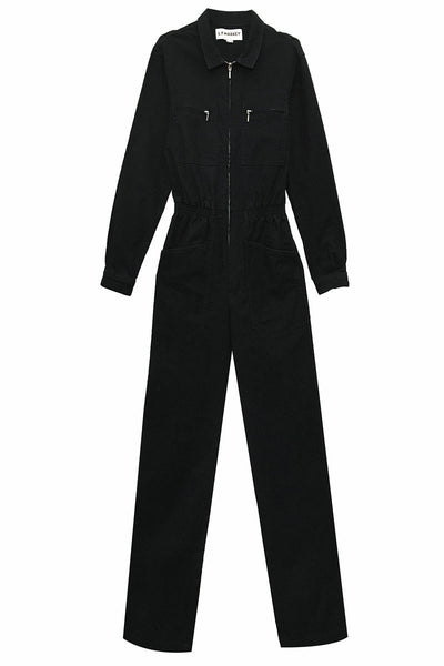 Danny Longsleeve Boilersuit Jet Black