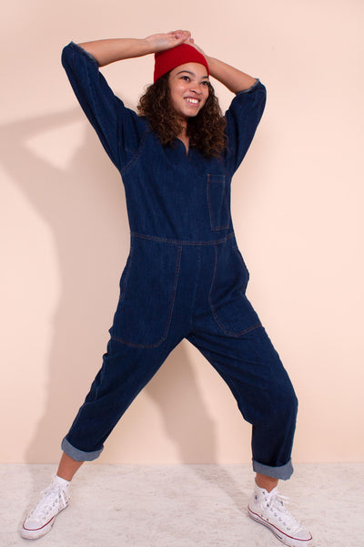 Earlston Boilersuit Indigo