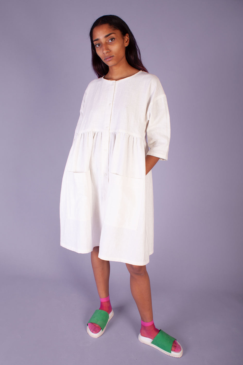 Samuel Dress Off White