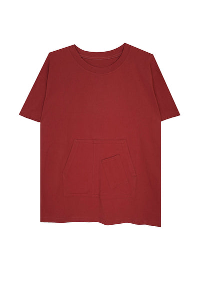 Albury Tee Burnt Red