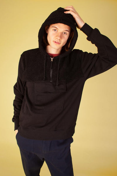 Glendon Sweatshirt Black Sherpa